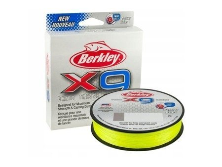 Plecionka Berkley X9 Fluoro Green  0,12mm 4,54kg 150m
